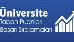 2021 Üniversite Taban Puanları ve Başarı Sıralamaları ÖSYM