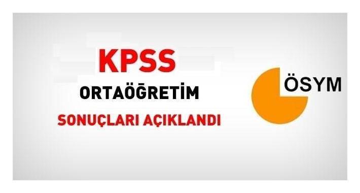 2020 KPSS Ortaöğretim Sonuçları Açıklandı