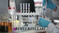 2019 TYT Kimya Konuları ve Soru Dağılımı(ÖSYM-YÖK-MEB)