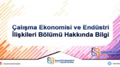 Çalışma Ekonomisi ve Endüstri İlişkileri Bölümü Hakkında Bilgi