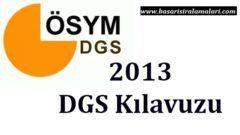 2013 DGS Başvuru Kılavuzu ÖSYM