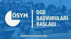 2019 DGS Başvuruları Başladı