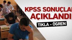 2018 KPSS sonuçlarını açıkladı / TIKLA ÖĞREN
