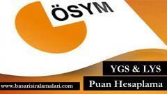 2017 LYS ve YGS Puan Hesaplama