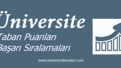 Bolu Abant İzzet Baysal Üniversitesi 2019 2018 Taban Puanları Başarı Sıralaması